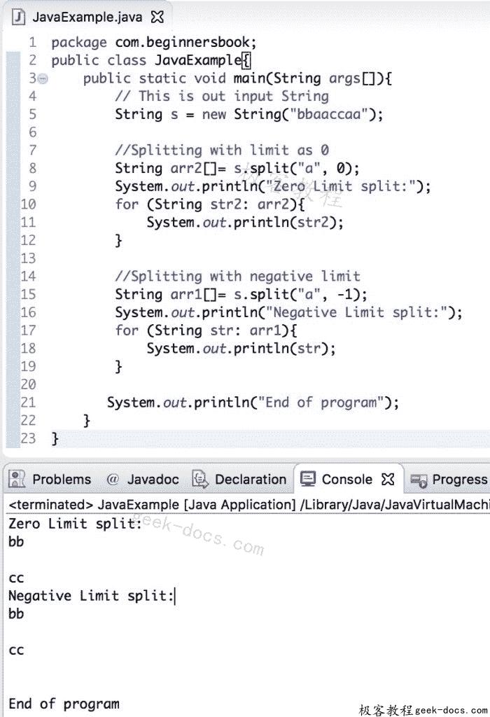 Java String split方法