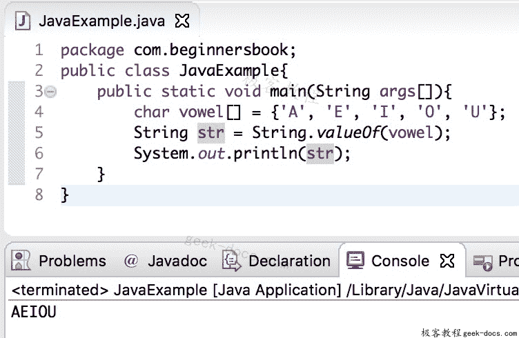 Java String valueOf方法