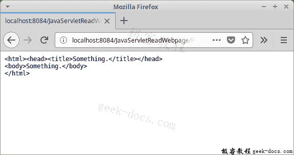 Java Servlet 读取网页